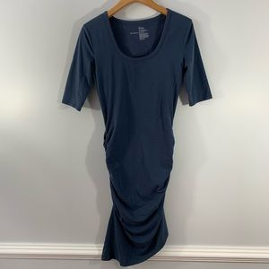 VS . Ruched Sides 3/4 Sleeve Dress . S